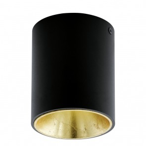 Polasso, LED, Ø 10 cm, schwarz-gold