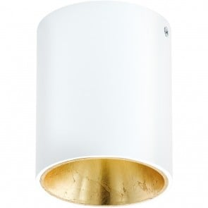 Polasso, LED, Ø 10 cm, weiß-gold
