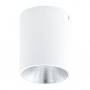 Polasso, LED, Ø 10 cm, weiß-silber
