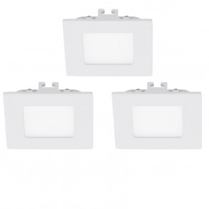 Fueva 1, LED, 8,5 x 8,5 cm, 3000K, Weiß, 3er Set