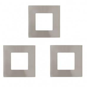 Fueva 1, LED, 8,5x 8,5 cm, 3000K, Nickel-matt, 3er Set