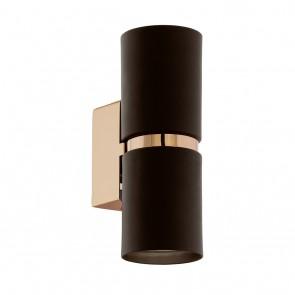 Passa, Höhe 17 cm, inkl LED, Braun- Kupfer, zylindrisch