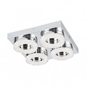 Fradelo, 4-flammig, Glaskristalle, inkl LED