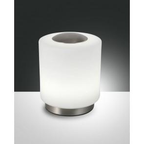 Simi LED, nickel satiniert, geblasenes Glas, weiß, 700lm, 8W
