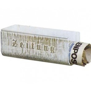 Zeitungshalter, Alu, weiß-gold