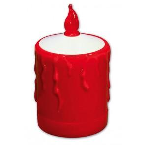Grablicht Flamme, LED, mit Tag-/Nachtsensor rot