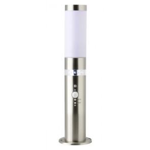 Bole, LED, mit Bewegungs- und Dämmerungssensor, Höhe 50 cm, metallisch