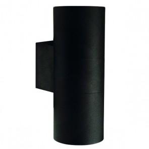 Tin Maxi, 2-flammig, Höhe 19 cm, Ø 7,6 cm, IP54, schwarz
