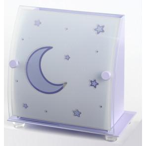 Moonlight 19 x 19 cm violett 1-flammig viereckig