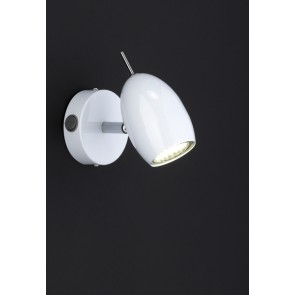 Quincy, 1-flammig, Ø 14 cm, inkl LED, weiß