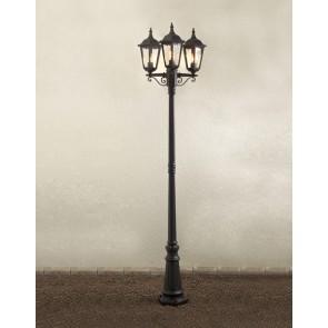Firenze, 3-flammig, Höhe 220 cm, schwarz