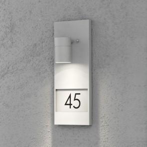 Modena Wandleuchte, Platz für drei Zahlen, Grau