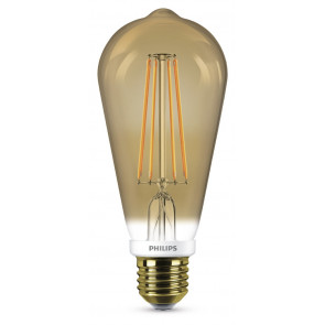 LED Classic E27, 7W, 630lm, gold, 2200K, dimmbar