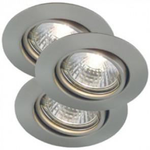 Triton 3er-Set Ø 7,5 cm metallisch 1-flammig rund